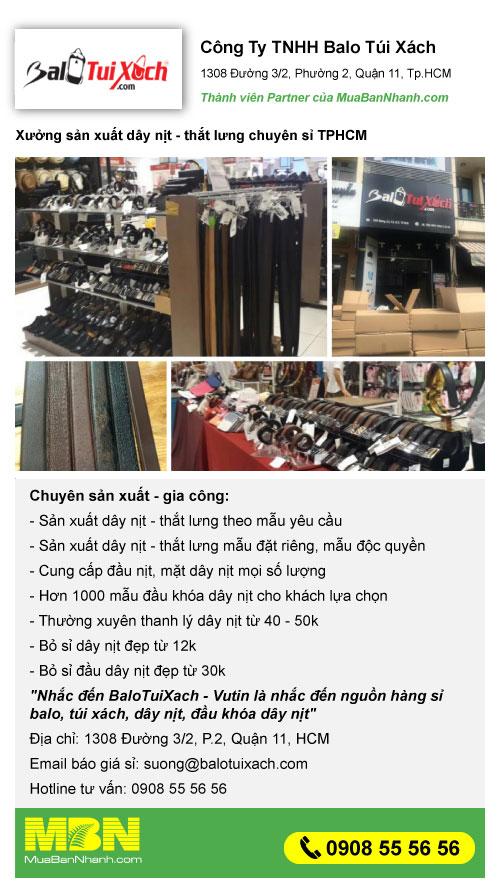 Công ty sản xuất dây nịt - bỏ sỉ dây nịt nam chuẩn hàng xuất khẩu TPHCM